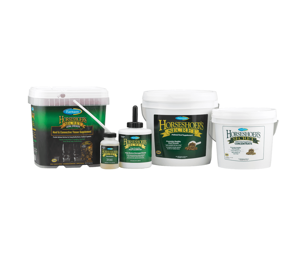 Horseshoer's Secret<sup>®</sup> - A Complete Line of Hoof and Leg Care Products