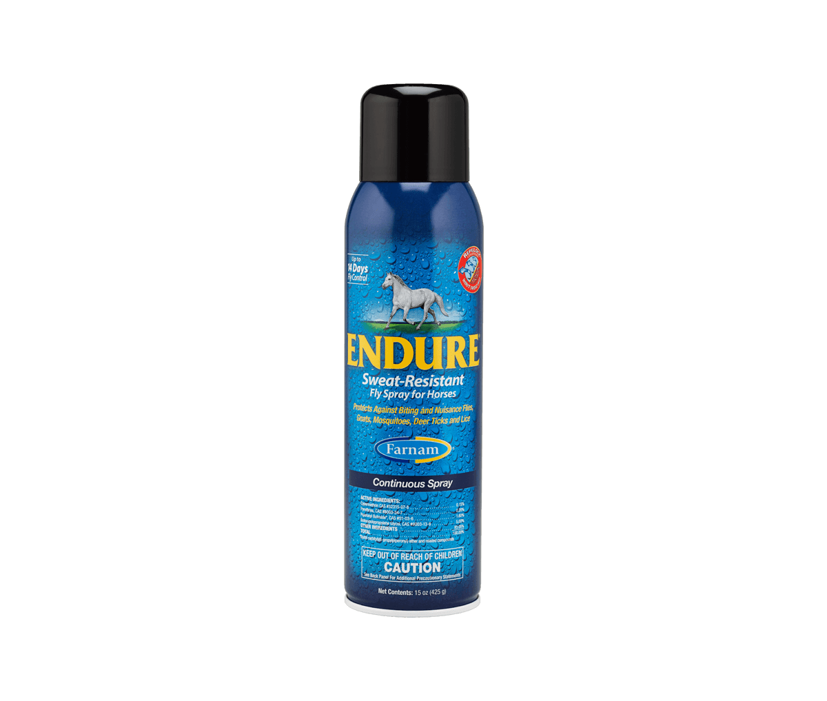 Endure Sweat Resistant Fly Spray now available in a continuous spray format