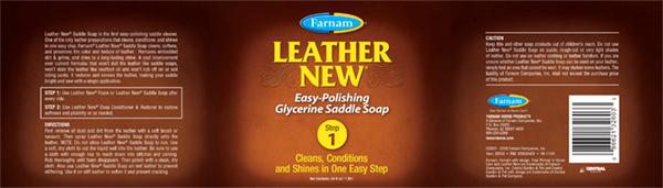 Leather New 64 oz Label