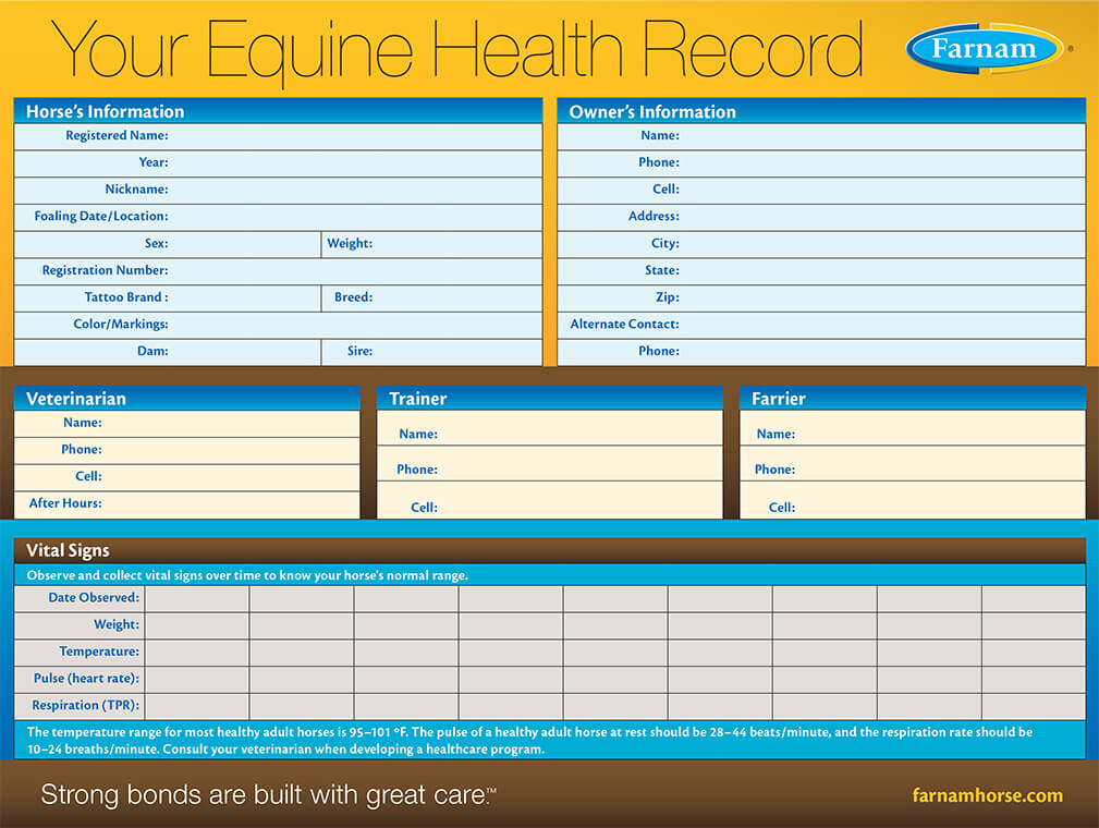 Equine Health Record Keeper